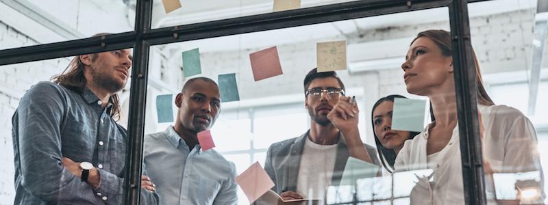 Organization design team driving transformation success through strategic leadership.
