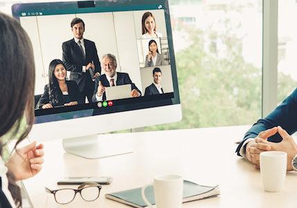 Organization design team rethinking customer transactions for a virtual environment