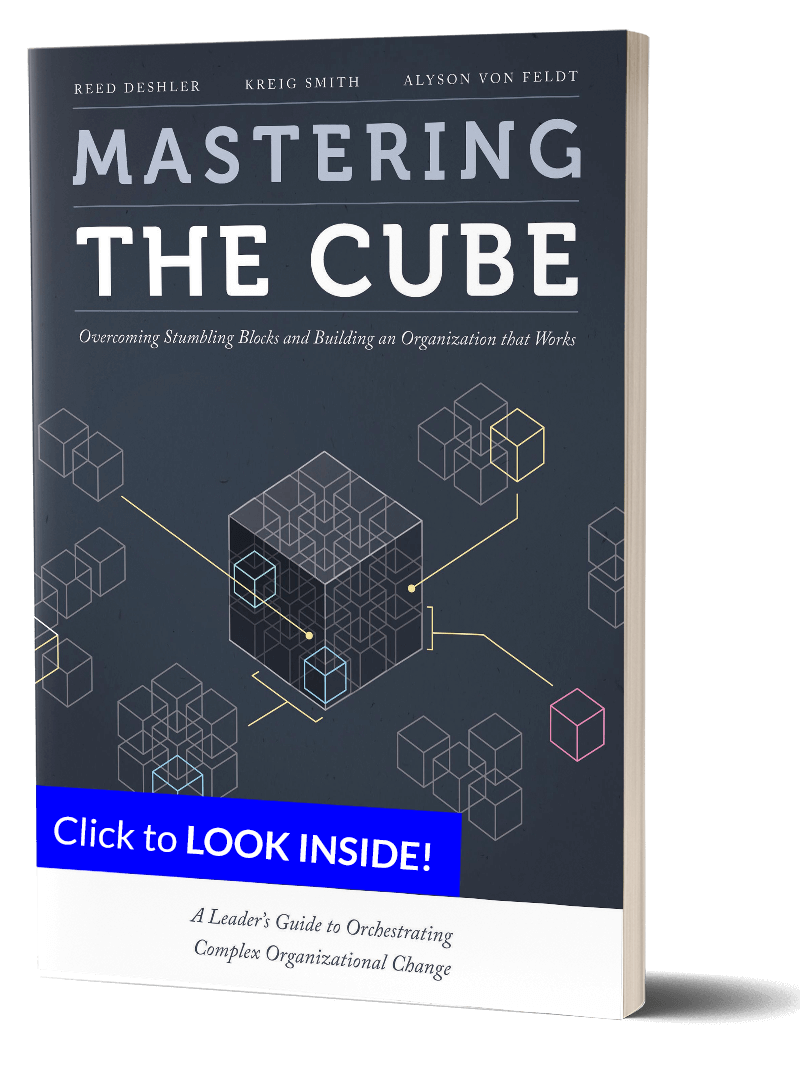 AlignOrg Mastering the Cube Book with Excerpt Banner